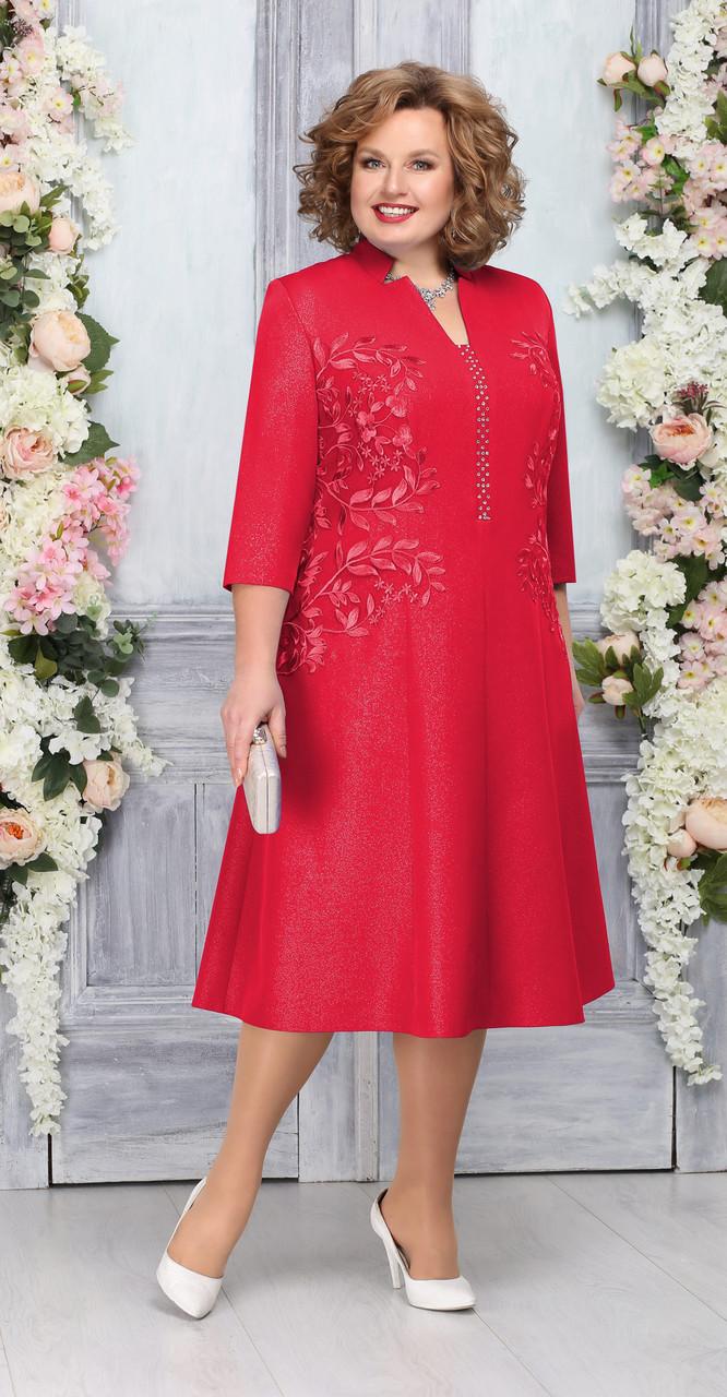 Платье Ninele-5758/1, красный, 58