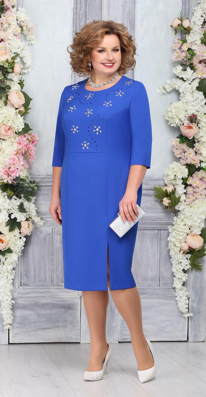 Платье Ninele-7267/3, василек, 48