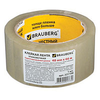 Упаковочная лента 48ммх66м прозрачная 45мк. BRAUBERG