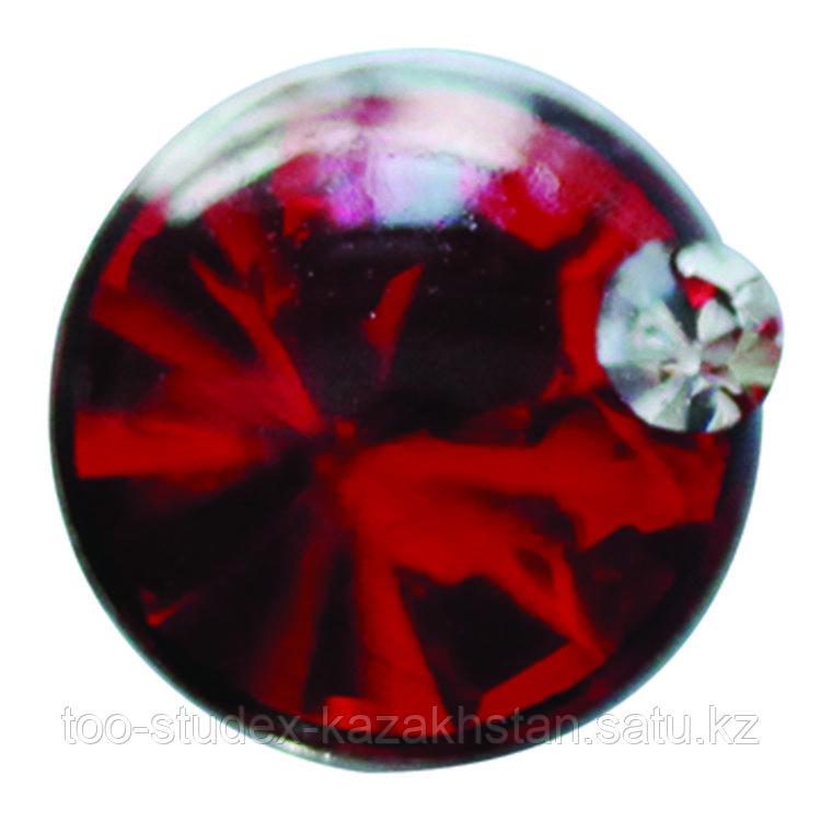 Серьги для прокола STUDEX System75 Красный кристалл с цирконом