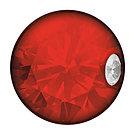 Серьги для прокола STUDEX System75 Красный кристалл с цирконом, фото 2