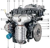 Двигатель и трансмиссия на Hyundai Getz
