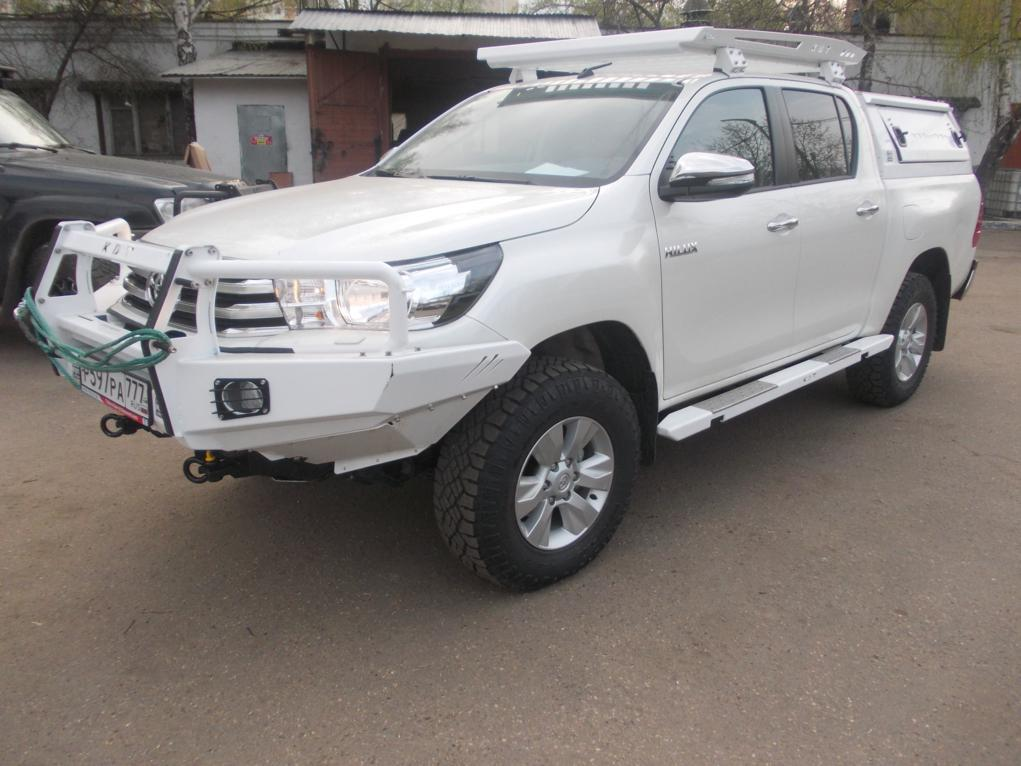 Передний силовой бампер с кенгурином алюминиевый - Toyota HILUX