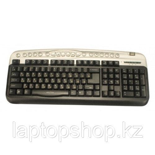 Клавиатура проводная Keyboard Oklick 330M Black/silver mmedia (PS/2+usb)+USB порт