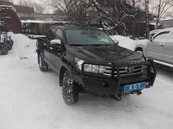Передний силовой бампер со съёмным кенгурином - Toyota HILUX