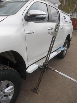 Пороги силовые алюминиевые II поколения - Toyota HILUX (с 2015 г.в.)
