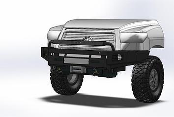 Передний силовой бампер III поколения - Toyota Tundra