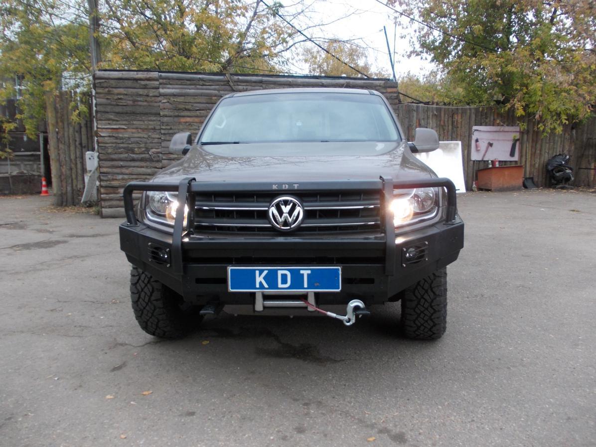Передний силовой бампер с кенгурином алюминиевый - Volkswagen Amarok