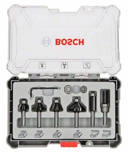 (2607017468) Набор кромочных фрез Bosch 6мм. 6шт.