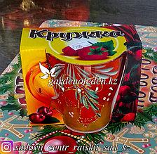 Кружка из цветного стекла с декором. Картонная упаковка. Цвет: Оранжевый.