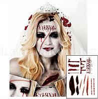 Временная татуировка Невеста тату на Хэллоуин (Temporary body art Corpse Bride)