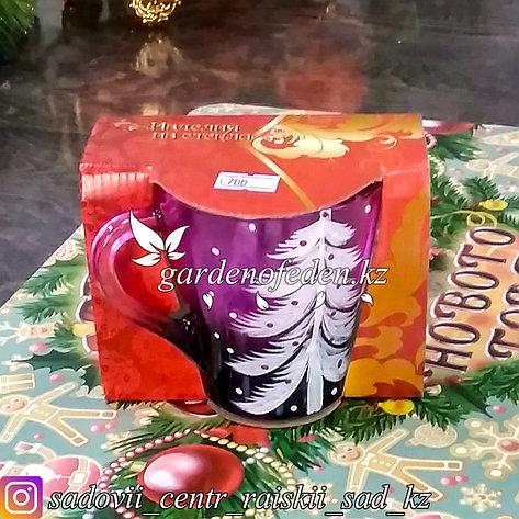 Кружка из цветного стекла с декором. Картонная упаковка. Цвет: Розовый., фото 2
