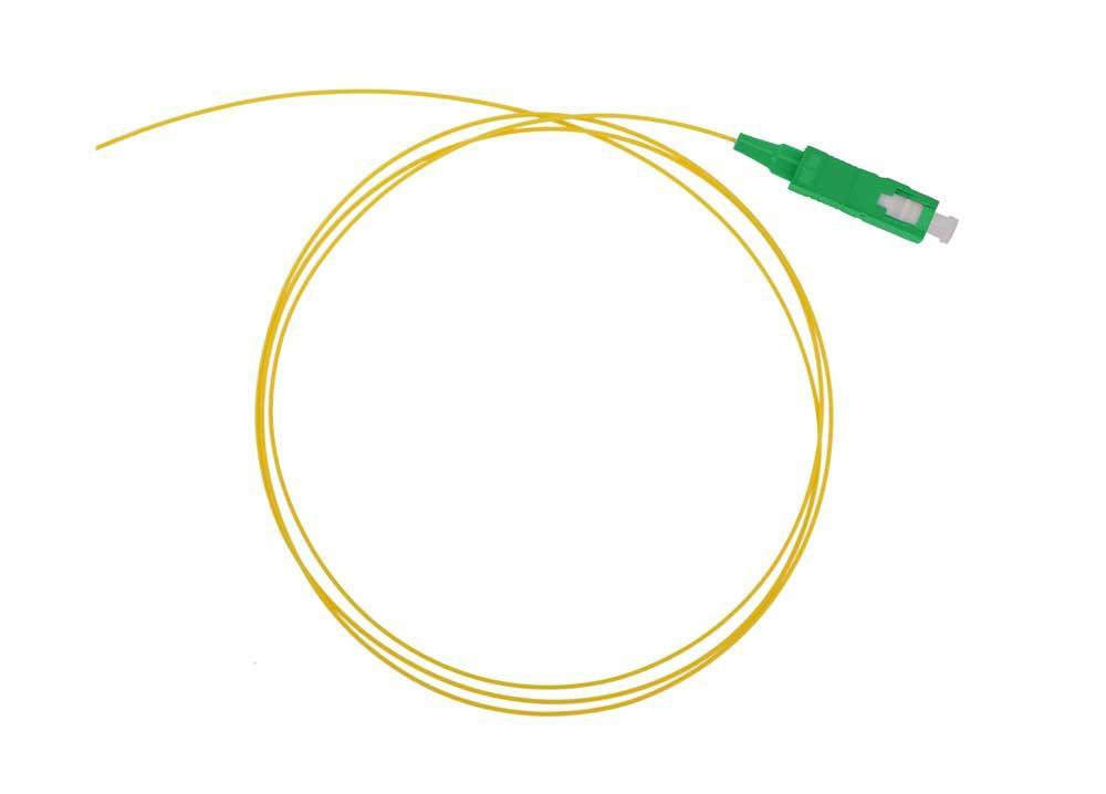 Оптический шнур (пигтейл) SC/APC одномодовый 1,5 метра 0,9мм