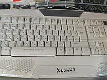 Игровая мультимедийная клавиатура с подсветкой X-LSWAB S777 белая