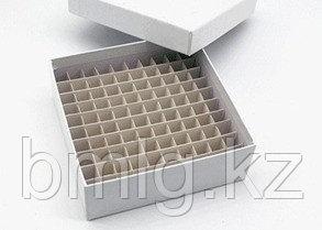 Криокоробка (криоштатив) из влагостойкого картона 81/100 мест для 0,5 - 2 мл пробирок