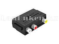 Адаптер SCART - RCA CABLE переходник (Euro) SCART to RCA двухсторонний с переключателем
