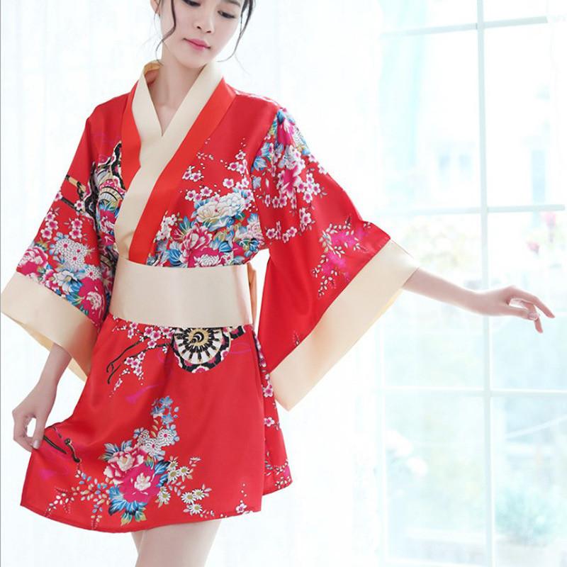 "Халат - кимоно ""Гейша"", размер 42 (s), цвет красный"