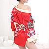 """Халат - кимоно """"Гейша"""", размер 42 (s), цвет красный, фото 2"""