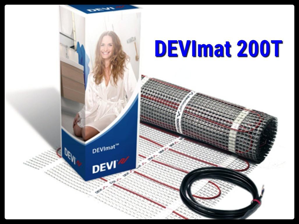Двухжильный нагревательный мат DEVImat 200T -  0,5м х 5м