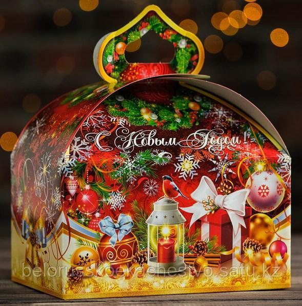 """Новогодний подарок """"Красный  сундучок"""" 1000 гр."""