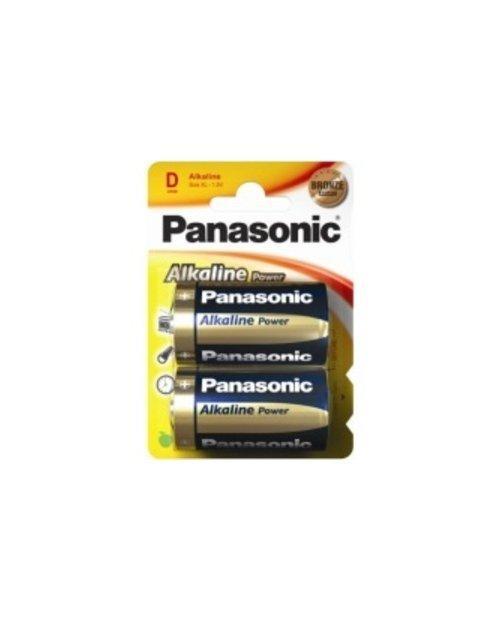 Panasonic LR20REB/2BP щелочная батарейка Alkaline Power  тип D, (2 шт/уп)