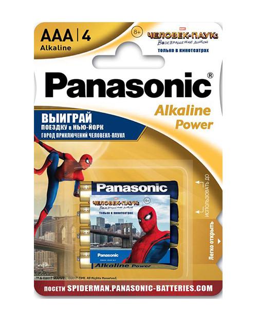 Panasonic LR03REB/4BPS щелочная батарейка Alkaline Power Promo pack AAA (4 шт/уп)