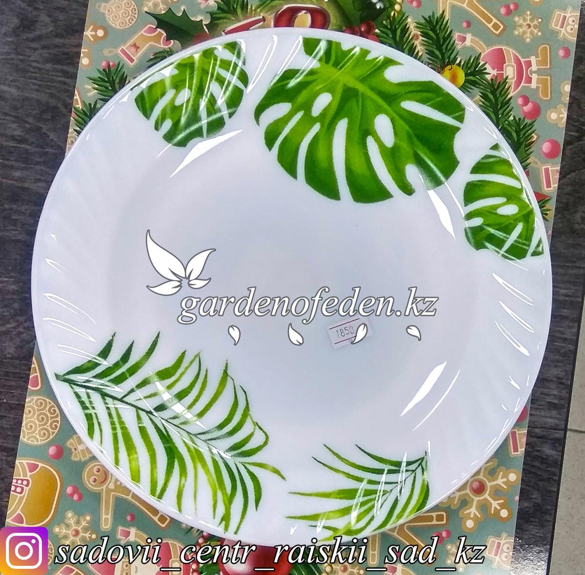 Тарелка обеденная, большая, с узором. Цвет: Белый. Материал: Керамика.