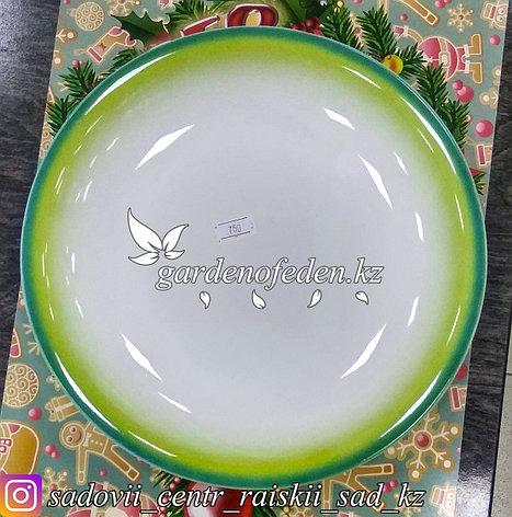 Тарелка обеденная, большая, с узором. Цвет: Белый. Материал: Керамика., фото 2