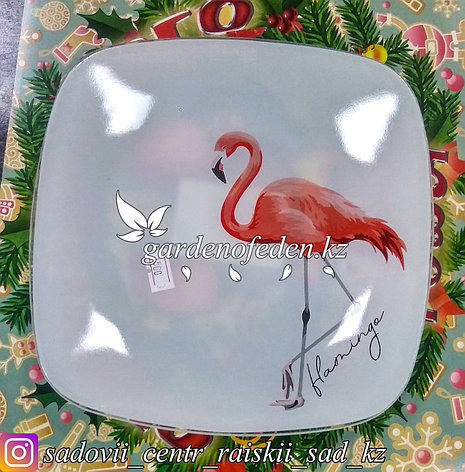 Тарелка подставная, с узором. Цвет: Белый. Материал: Стекло., фото 2