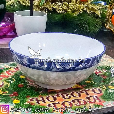 Тарелка суповая, с узором. Цвет: Белый. Материал: Керамика., фото 2