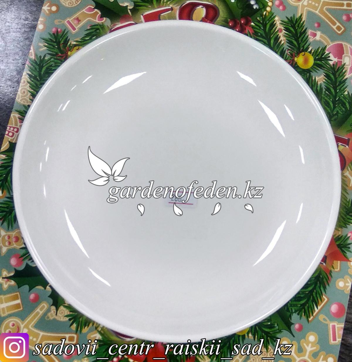 Тарелка обеденная, средняя. Цвет: Белый. Материал: Керамика.