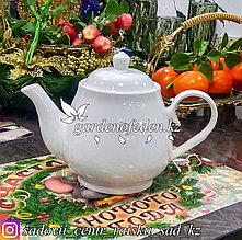 Чайник заварочный с крышкой, керамический. Цвет: Белый.