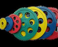 Диск олимпийский Johns 71023 цветной обрезиненный (1,25 кг желтый), фото 1
