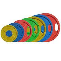 Диск олимпийский Johns 71022 цветной обрезиненный (1,25 кг), фото 1