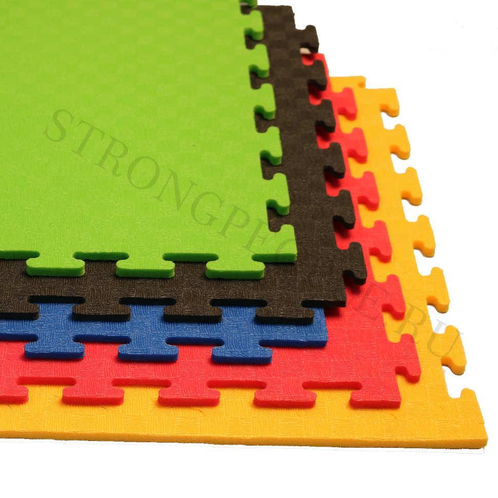 Маты - пазлы для фитнесса и тренажеров (желтый)