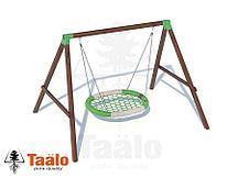 """Качели деревянные с сиденьем """"Гнездо""""-овал Taalo"""