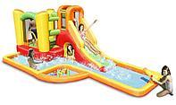 Надувной батут с водной горкой Happy Hop 9281 (Игра с водой)