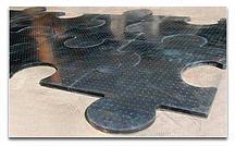 Резиновое монолитное плиточное напольное покрытие NOKI PUZZLE