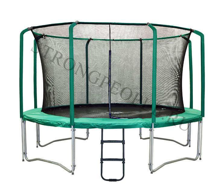 Батут Super Tramps Bounce 12' диаметр 3,7 метра с защитной сетью и лестницей