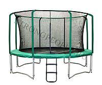 Батут Super Tramps Bounce 12 диаметр 3,7 метра с защитной сетью и лестницей