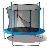 Батут Jun Tramps 14' диаметр 4,3 метра с сеткой и лестницей