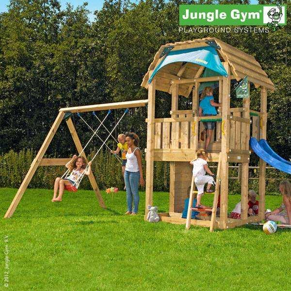 Детский городок Jungle Gym Barn + SwingModule Xtra