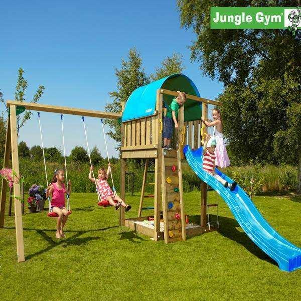 Игровая площадка Jungle Gym Villa + SwingModule Xtra