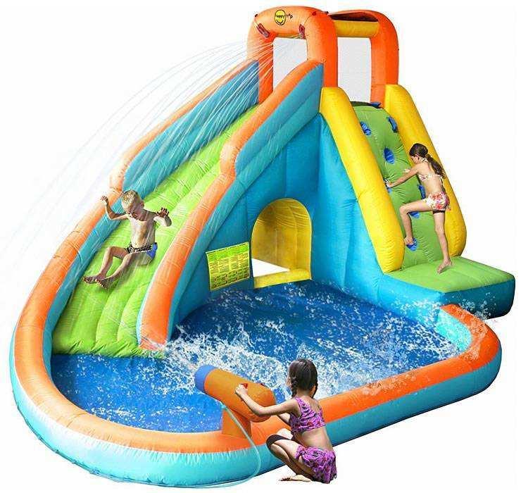 Надувная водная горка Happy Hop 9117N (Водопад)