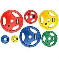 Диск олимпийский Grome WP074 цветной обрезиненный (1,25 кг), фото 1