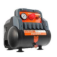 """WO 6-180 PATRIOT Компрессор поршневой безмаслянный 180 л/мин, 1,1 кВт, 8 бар, 6 л, быстросъемный 1/4"""""""