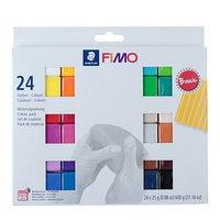 Набор пластики - полимерной глины FIMO soft, 24 цветов по 25 г