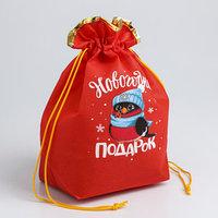Мешок подарочный 'Новогодний подарок', 28 x 28 см (комплект из 5 шт.)