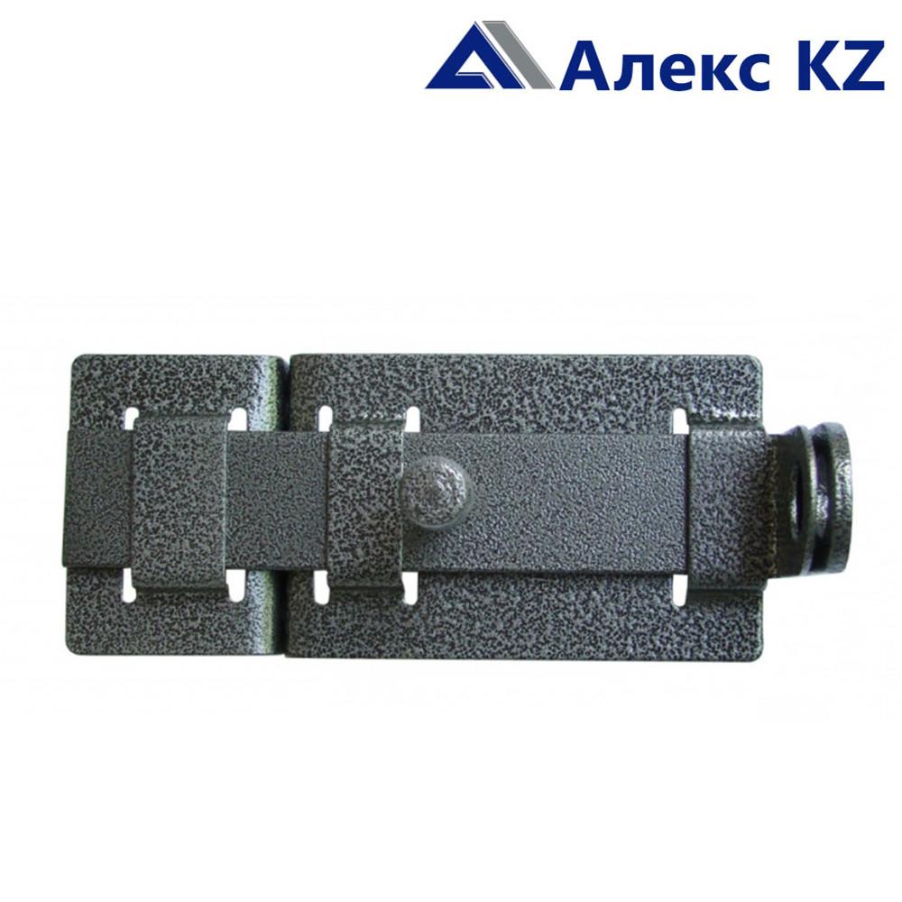 Задвижка дверная ЗД-04 полимер серебро