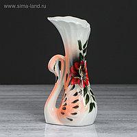 """Ваза настольная """"Лебедь"""" цветная, 22 см, микс, керамика"""